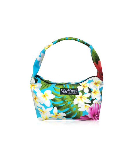 Luxury Hibiscus Pouch Hand Bag