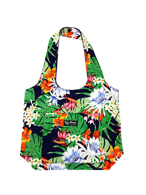 Night Blooming Bouquet Reversible Hobo Bag S