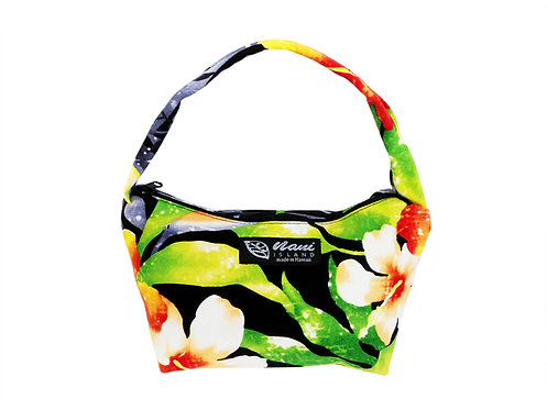 Watermark Floral Pouch Hand Bag