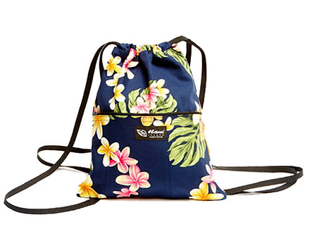 Cute Plumeria Drawstring Back Pack M