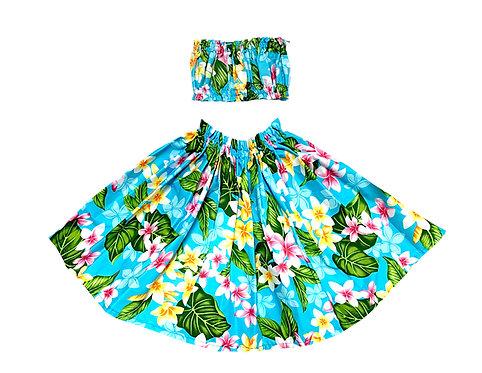 Plumeria Keiki Pa'u Hula skirt Set