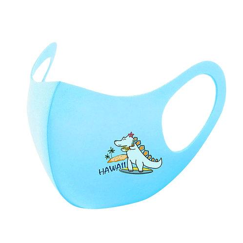 Blue Baby Dinosaur 3D Aerosilver Mask