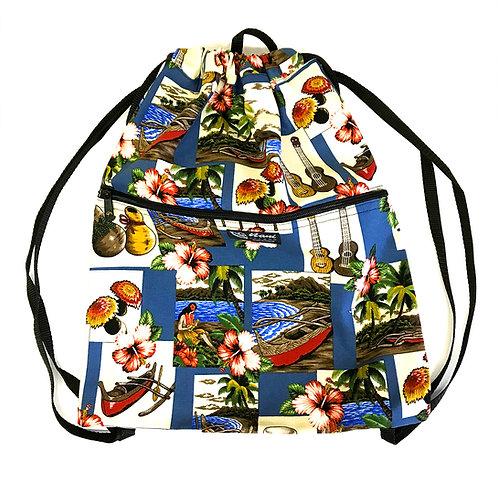 Hawaiian Dance Drawstring Back Bag