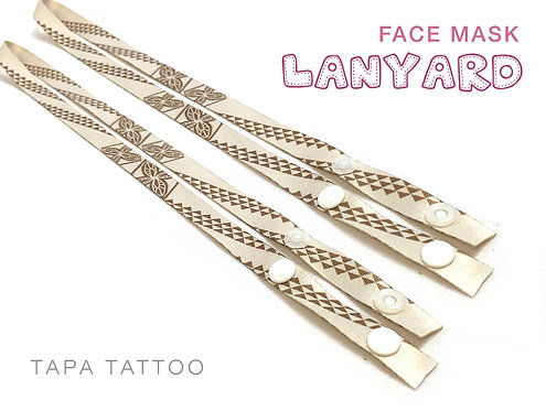 Tapa Tattoo Mask Lanyard
