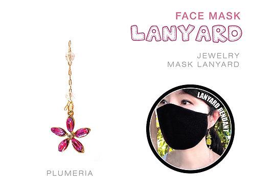 Plumeria Jewelry Mask Lanyard