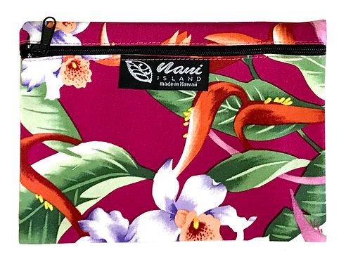 Hanging Heliconia Cosmetic Pouch
