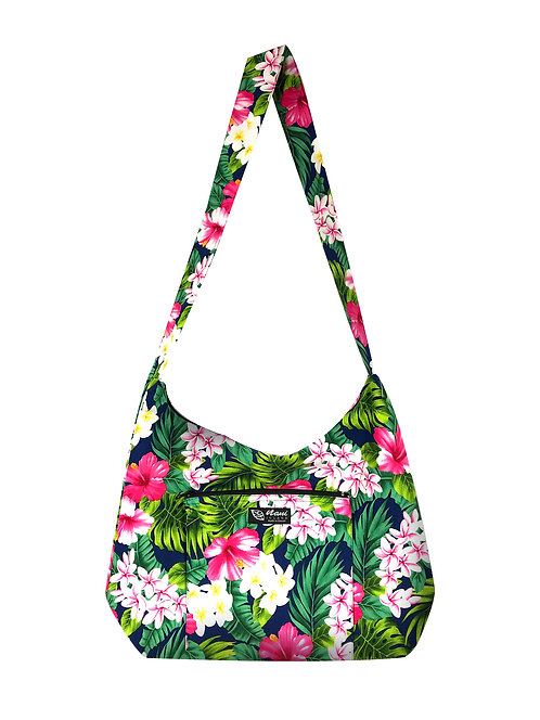 New Hibiscus Sling Bag w/Zipper