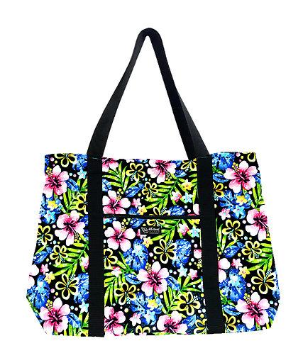 Groovy Hibiscus Shopping Bag w/Zipper
