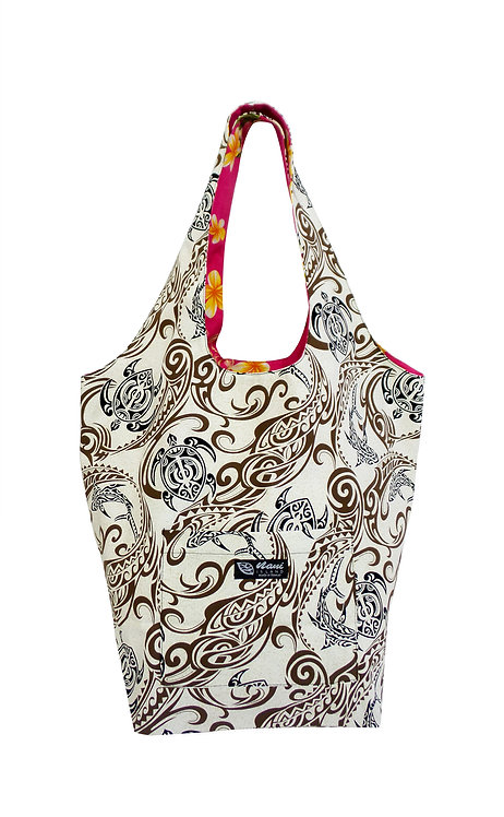 Wave Reversible Hobo Bag L