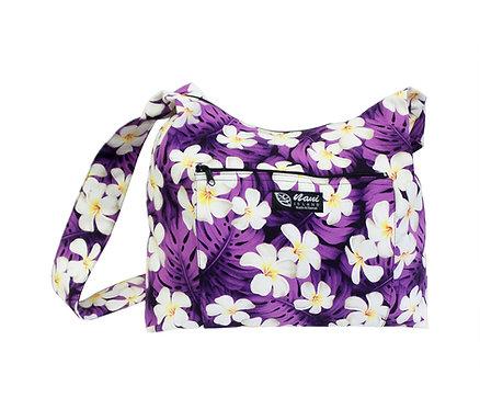 Modern Plumeria Sling Bag w/Zipper