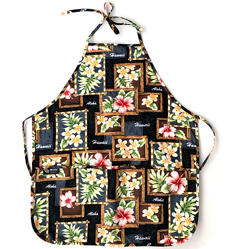 Box of Plumeria Adult Apron