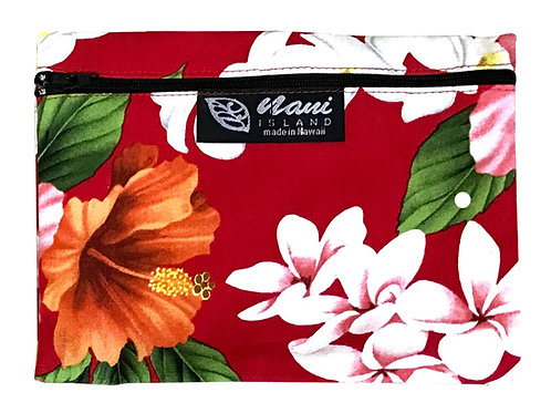 Luxury Hibiscus Cosmetic Pouch