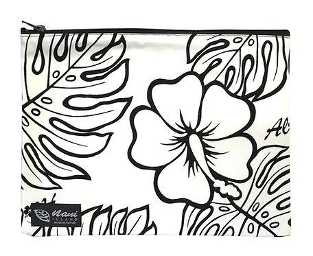 Monstera Lover Clutch Bag w/Lining