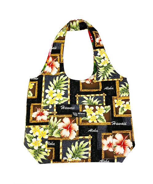 Box of Plumeria Reversible Hobo Bag S