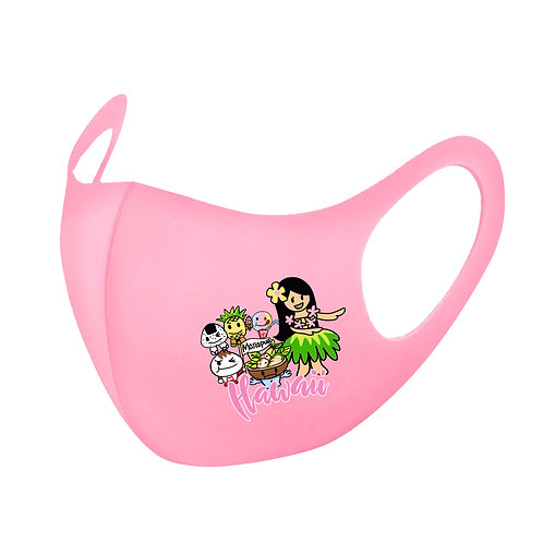 Pink Baby Hula Girl 3D Aerosilver Mask