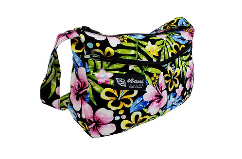 Groovy Hibiscus Two Pocket Handbag