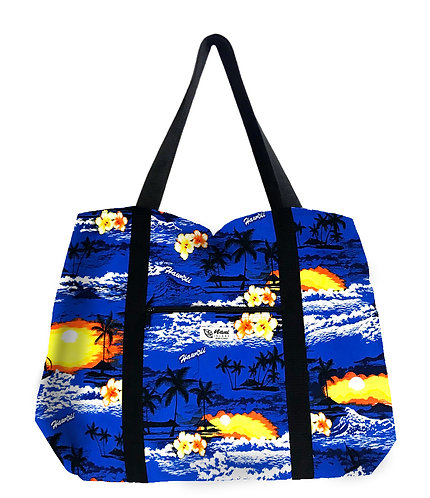 Waikiki Sunset Shopping Bag w/Zipper