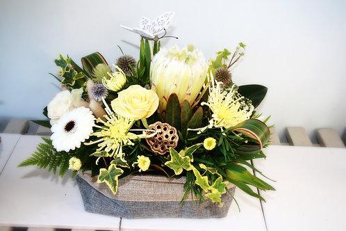 Table Center Floral Basket