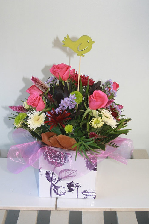 Floral Box with Roses