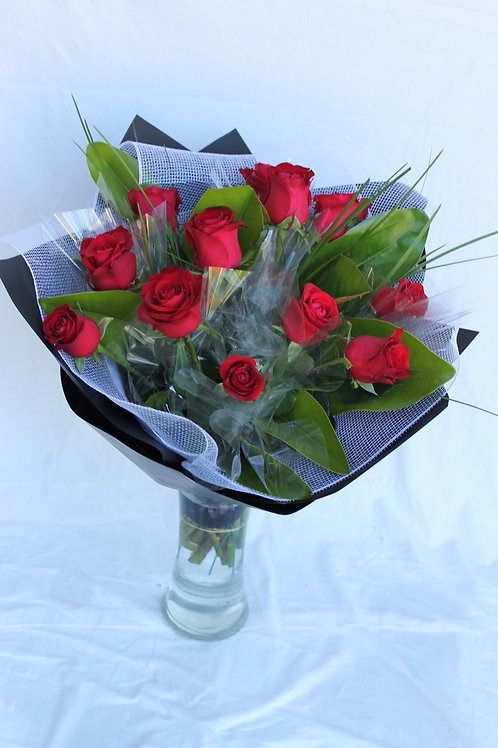 Bouquet of red rose 10 stems