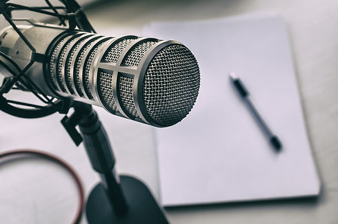 Microphone, sheets of paper and pen.jpg