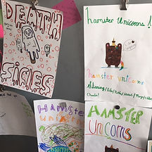Troupe Posters from Improv Camp at Spilled Milk Social Club, Summer 2017