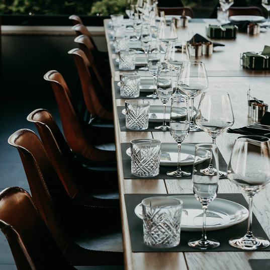 Tabelleneinstellung für Hochzeit