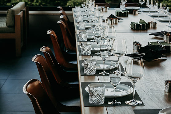 Table setting pour le mariage