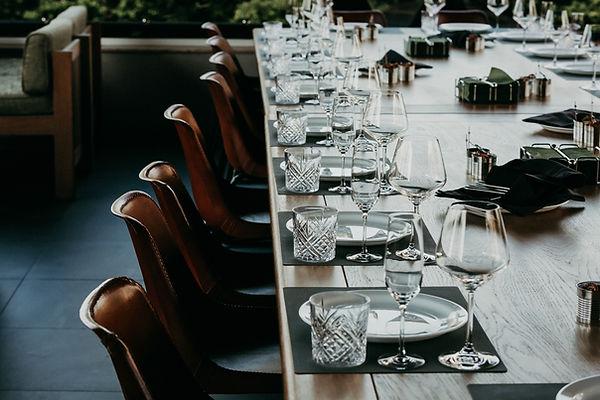 Tabelleneinstellung für Firmenevent