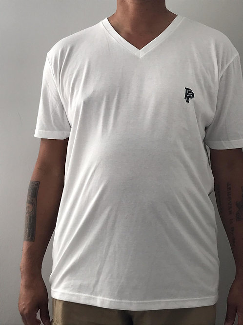 Men's PP Quicker Dry White V-Neck Tee