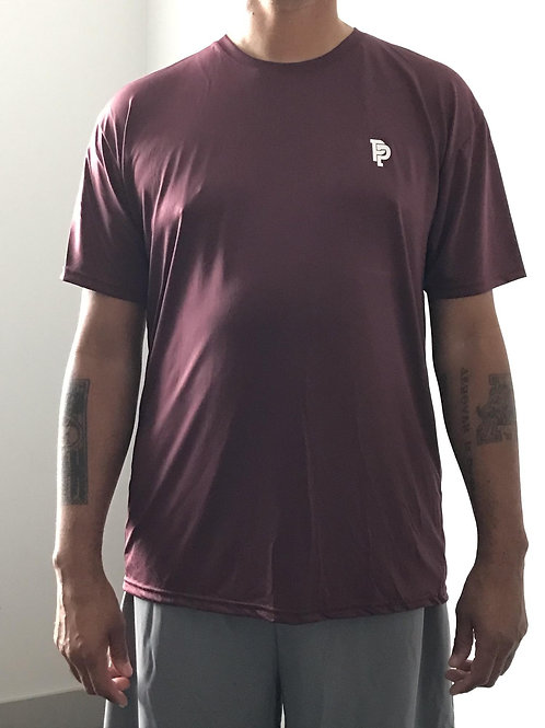 Men's PP Quicker Dry Plum Short Sleeve Performance Tee