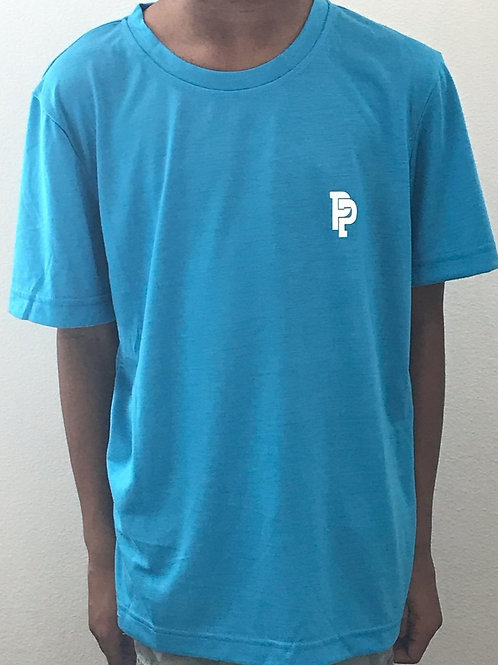 Youth SS Quicker Dry Electric Blue Performance Shirt