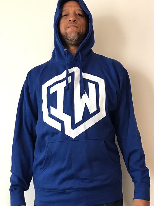 IWHIN Hoodie, Royal Blue With White IW Logo