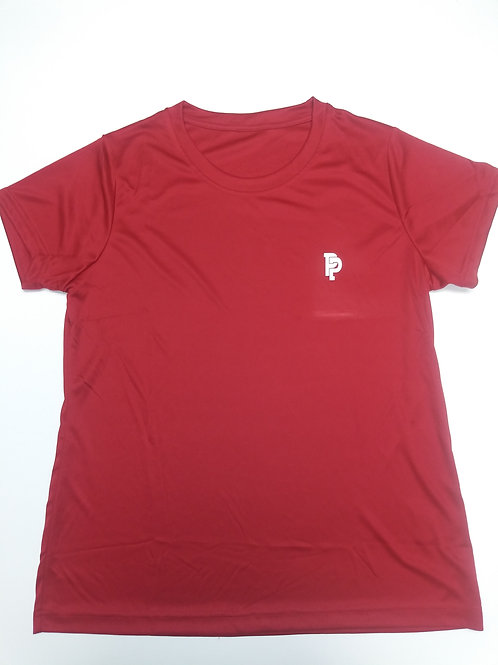 Women's PP Quicker Dry Red Performance Tee