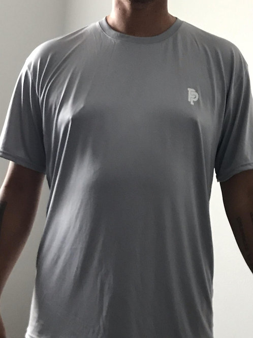 Men's SS Quicker Dry Light Grey Short Sleeve Performance Tee