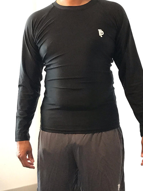 Boy's PP Quicker Dry Black Long Sleeve Compression Shirt