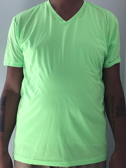 Men's CT Quicker Dry Lime Green V-Neck Tee