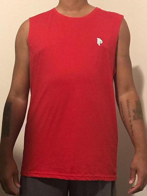 Men's PP Quicker Dry Red Tank Top