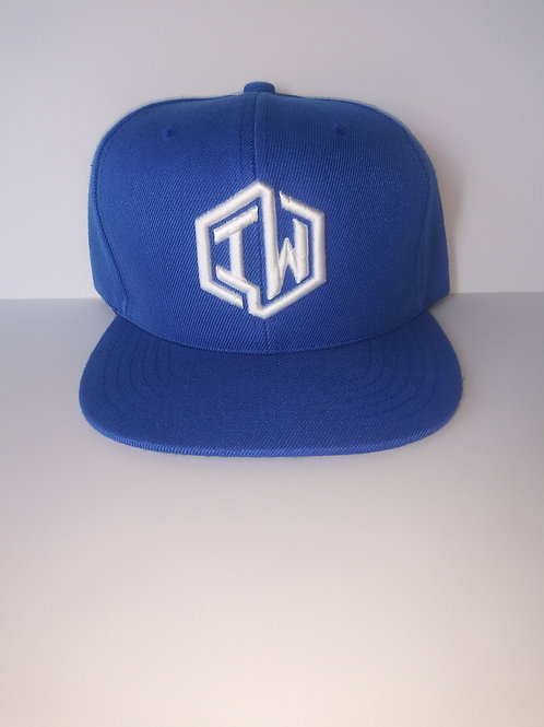 Blue Snapback Hat With IW Logo