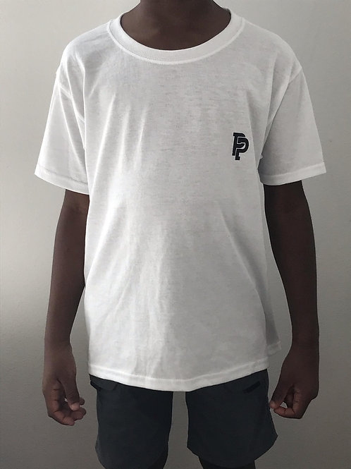 Youth PP Quicker Dry White Tee