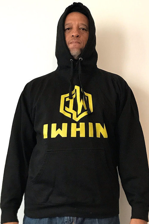IWHIN Hoodie, Black With Gold Logo