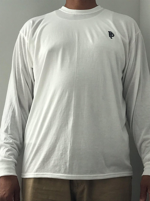 Men's PP Quicker Dry White Long Sleeve Poly Tee