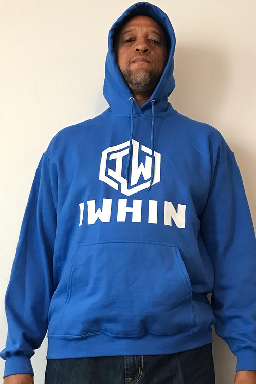 IWHIN Hoodie, Light Blue With White Logo