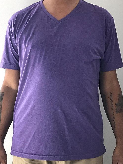 Men's CT Quicker Dry Purple V-Neck Tee