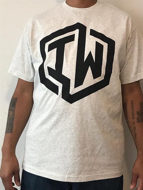 IWHIN Tee, Light Grey With Black IW Logo