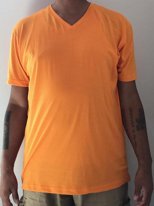Men's CT Quicker Dry Orange V-Neck Tee
