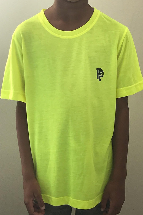 Youth PP Quicker Dry Safety Yellow Performance Shirt