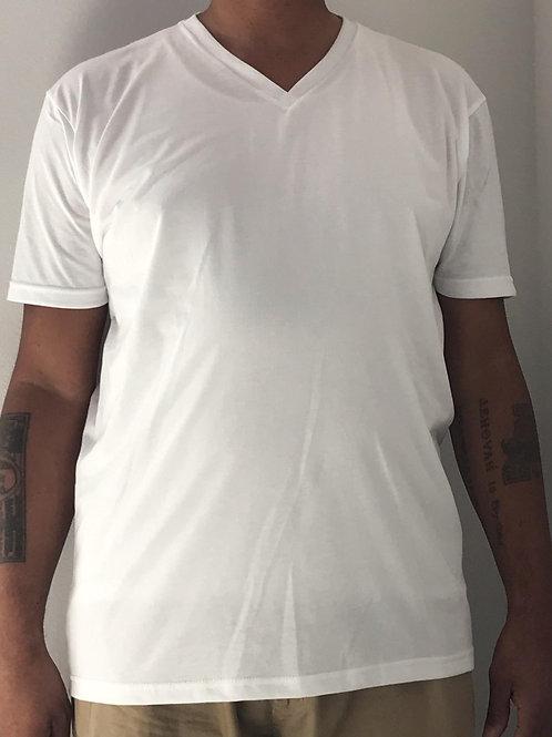 Men's CT Quicker Dry White V-Neck Tee