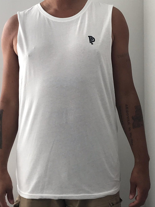 Men's PP Quicker Dry White Tank Top