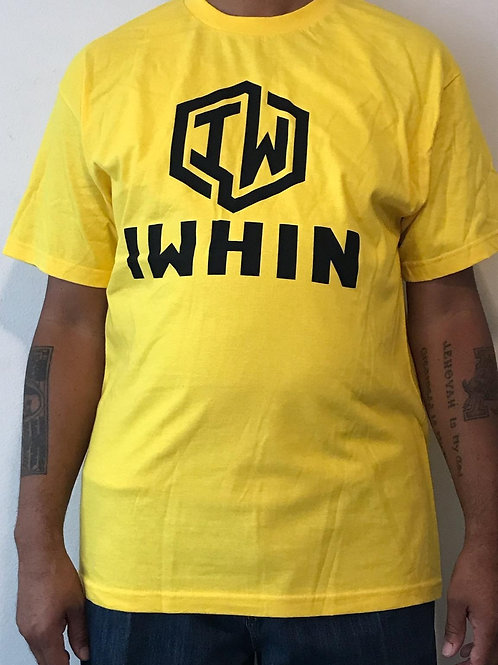 IWHIN Yellow Tee With Black Logo